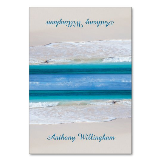 Coastal Vows Tented Beach Wedding Place Cards
