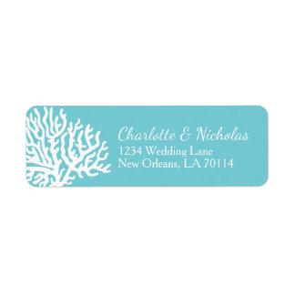 Coastal White Sea Coral Couple's Names Wedding