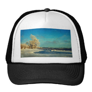 Coastal Winter Scene Cap