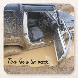 Coaster 4x4 off roader jeep stuck in mud