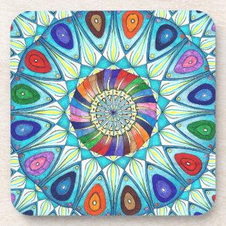 Coaster abstract mandala drawing