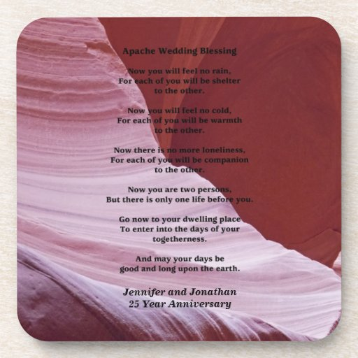 Apache Wedding Blessing: Coaster, Apache Wedding Blessing, Anniverary Gift