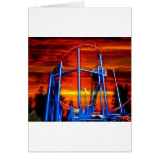 Coaster At Sunset Greeting Card