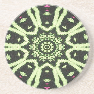 Coaster. Black cream bobblehat design. Coaster