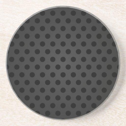 Coaster Black Polka Dot