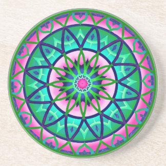 Coaster Circular Fantasy in Pink and Green