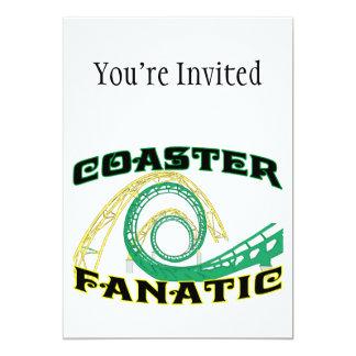 Coaster Fanatic 13 Cm X 18 Cm Invitation Card