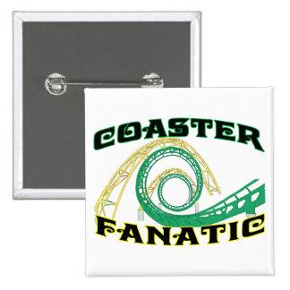 Coaster Fanatic 15 Cm Square Badge
