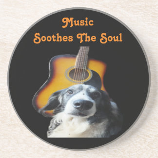 Coaster Guitar Dog