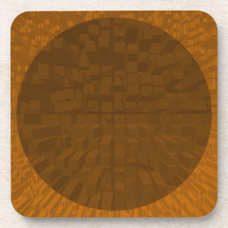 Coaster Hard Plastic brown  with cork back