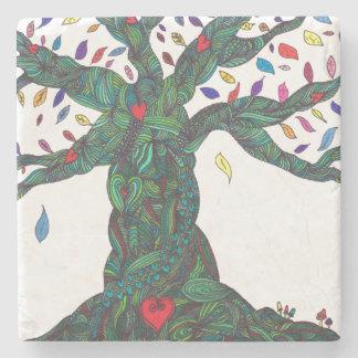 Coaster - heart tree