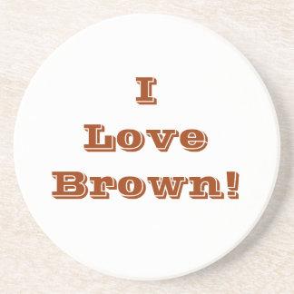 Coaster I Love Brown