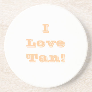 Coaster I Love Tan