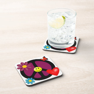 Coaster: Peace Love and Happiness coasters.
