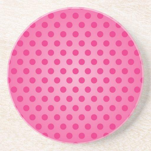 Coaster Pink Polka Dot
