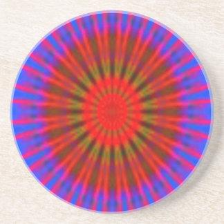 Coaster. Reds Blues Bobblescope Design. Coaster