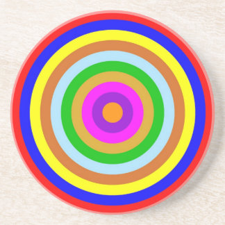 Coaster - Round - Coloured circles