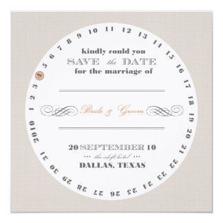 "Coaster ""Save te Date"" 13 Cm X 13 Cm Square Invitation Card"