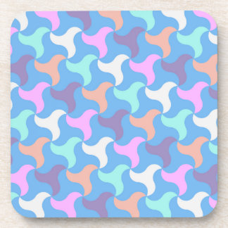 Coaster set in bold pattern with soft colours
