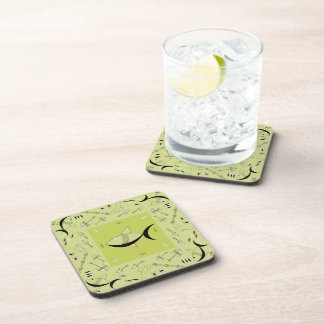 Coaster Set Of 6 FISH TALE - CHARTREUSE