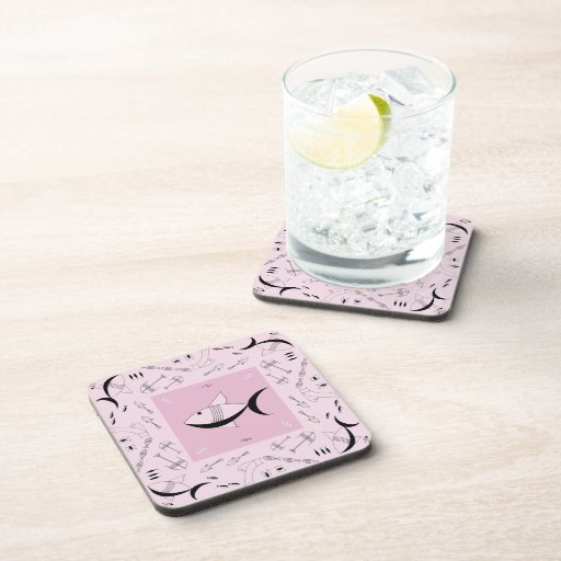 Coaster Set Of 6 : FISH TALE - PINK FLOYD