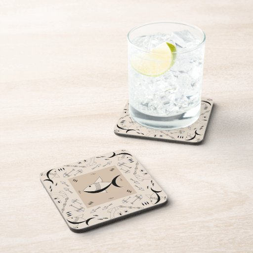 Coaster Set Of 6 : FISH TALE - SAND CITY