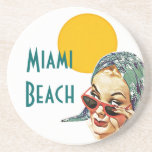 Coaster ~ Vintage Mid-Century Style Red Sunglasses