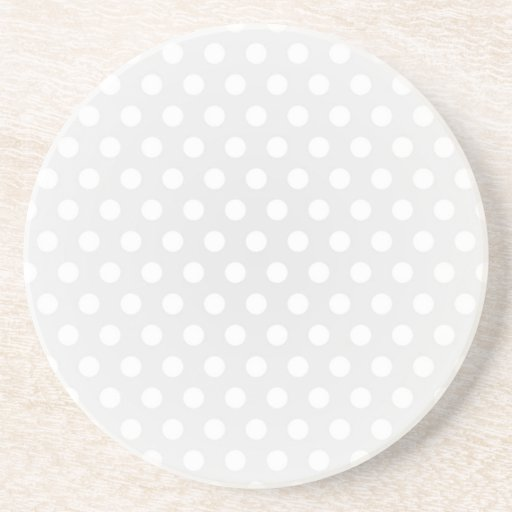 Coaster White Polka Dot