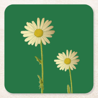 Coaster with daisies