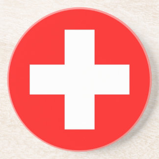 Coaster with Flag of Switzerland