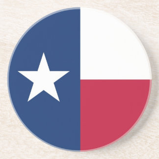 Coaster with Flag of the Texas, USA
