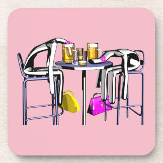 Coasters Blows of bar 4 woman without logo