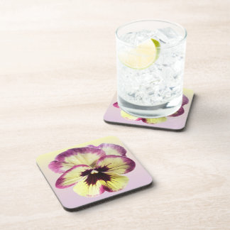 Coasters - Hard Plastic - Burgundy Blotch Pansy