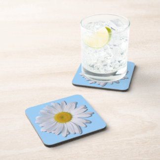 Coasters - Hard Plastic - New Daisy on Blue