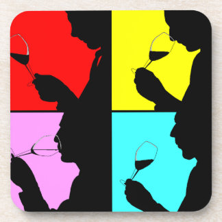 Coasters Pop Art Wine Tasting Party Steps Colorful