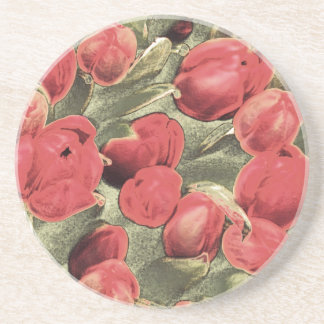 Coasters, Red Tulips, Decorative Art Sandstone Coaster