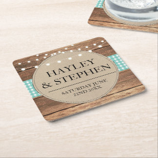 Coasters Teal Check Lights Rustic Wedding Party