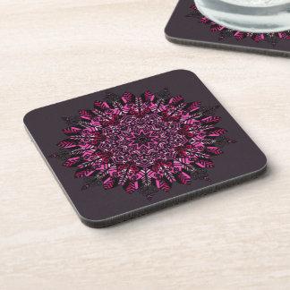 coasters with cork back - set of 6 Mandala Design