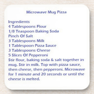 Coasters With Microwave Mug Pizza Recipe