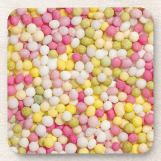 Coasters with photo of sugar sprinkles
