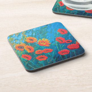 Coasters with Sunflowers - set of 6