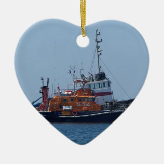 Coastguard Boat And Tug Boat Christmas Ornament