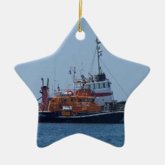 Coastguard Boat And Tug Boat Christmas Ornament