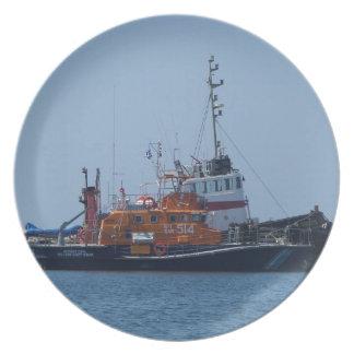 Coastguard Boat And Tug Boat Dinner Plates