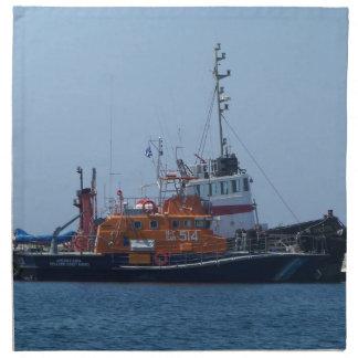 Coastguard Boat And Tug Boat Napkin