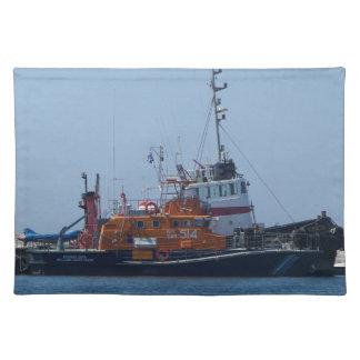 Coastguard Boat And Tug Boat Placemat