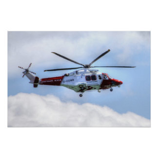Coastguard Helicopter Posters