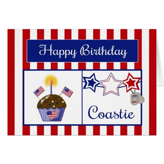 Coastie Birthday Card - Coast Guard