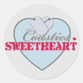 Coasties Sweetheart Round Sticker