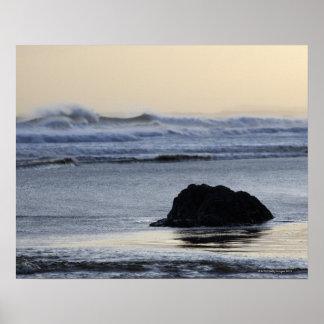 coastline at dawn poster